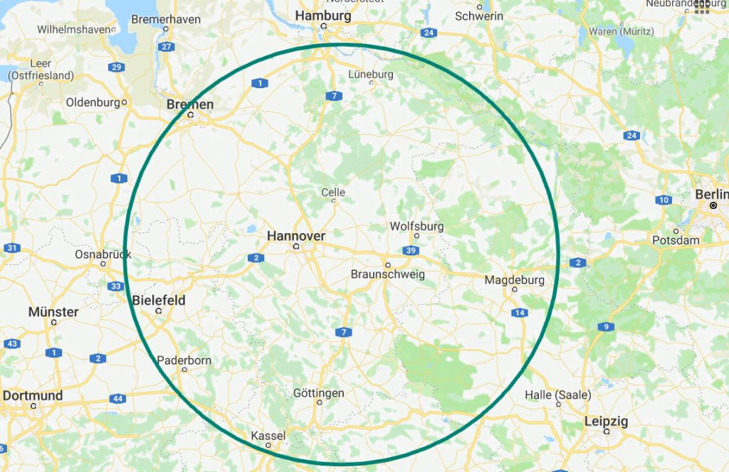 Aktionsradius - 125 km SehndeUnternehmensberatung Stoll - ISO 9001 Beratung - QM-System - Audit - Zertifizierung - Arbeitsschutz - Datenschutz
