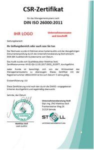 CSR-Zertifikat und Nachhaltigkeit Unternehmensberatugn Stoll