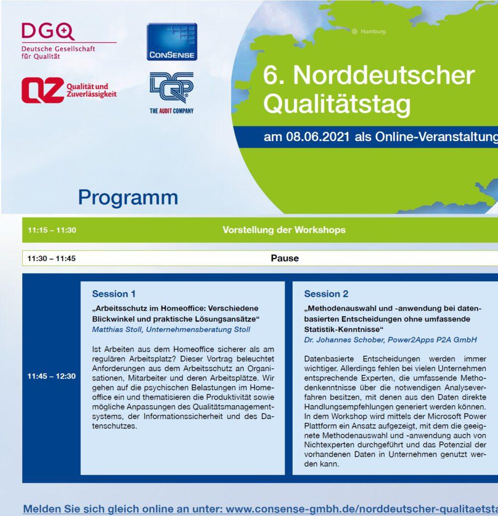 Arbeitsschutz im Homeoffice 6. norddeutscher Qualitätstag 2021